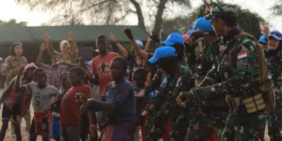 Pasukan Garuda Monusco Perkenalkan Kebudayaan Indonesia di Kongo