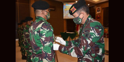 Serah Terima Jabatan Pussenkav, Komandan: Jadilah Prajurit Berakhlak Mulia, Profesional dan Berani