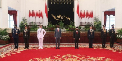 Pelantikan 750 Perwira TNI-Polri