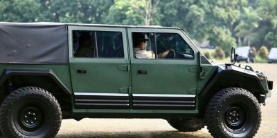 Ini Spesifikasi dan Ketangguhan Kendaraan Taktis Maung yang Diuji Coba Menhan Prabowo