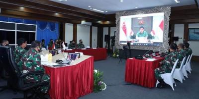 TNI dan Tentara Singapura Bahas Latihan dan Kerja Sama Militer
