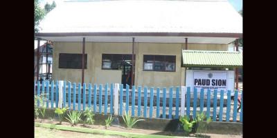 Satgas TMMD Raja Ampat Bangun Gedung Sekolah PAUD