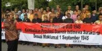 Melangkah Kembali Kota Surakarta Menjadi Daerah Istimewa Surakarta