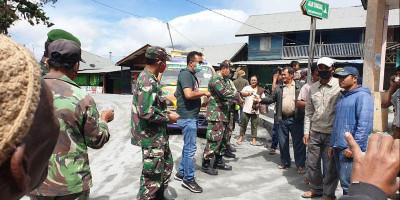 Tiga Kecamatan Terdampak Hujan Abu Gunung Sinabung