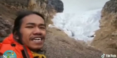 Menangis Melihat Salju di Puncak Gunung Jaya Wijaya, Pemuda Ini Singgung Pemimpin yang Lupa Keseimbangan Alam