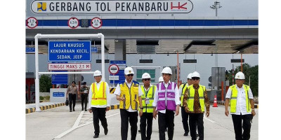 Resmikan Jalan Tol Pekanbaru-Dumai, Presiden Jokowi: Ini Akan Meningkatkan Konektivitas
