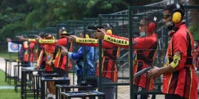 Uji Kemampuan, Perwira Marinir Latihan Menembak