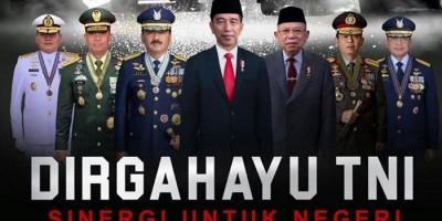 HUT TNI ke-75 Trending di Twitter, Simak Pesan Jokowi