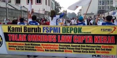 Dihadang Aparat, Ratusan Buruh Depok Gagal ke Jakarta