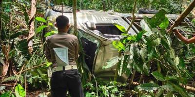 Mobil Pick Up Masuk Jurang, Penumpang Tewas Sopir Luka