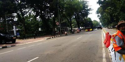 Jalan Sekitar Istana Ditutup Jelang Aksi BEM SI