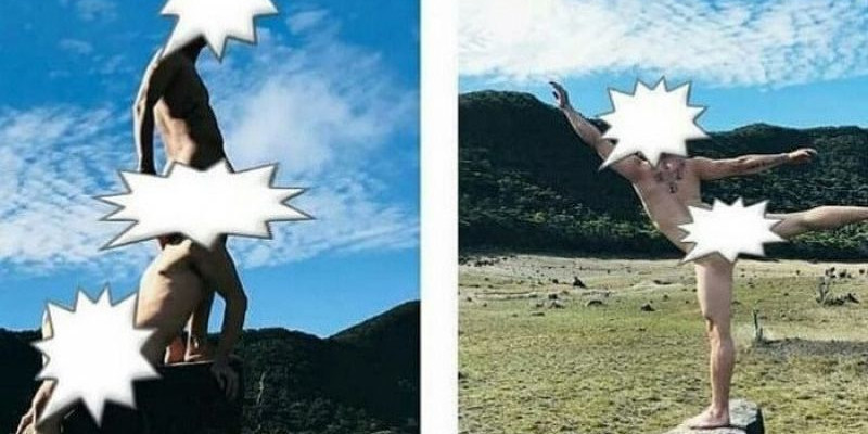 Dua Pria Berfoto Bugil di Gunung Gede Pangrango Jadi Cibiran Netizen