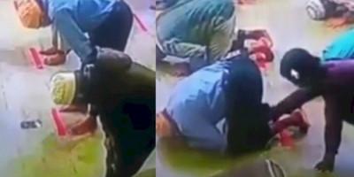 Video Pencuri Pura-pura Salat Berjemaah, Gasak Ponsel Jemaah Lainnya Saat Sujud