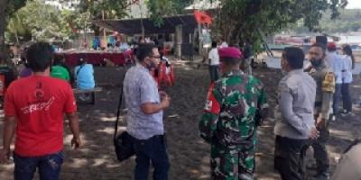 Prajurit Yonmarhanlan VIII Bitung Dukung PAM Kampanye Pilkada Serentak 2020