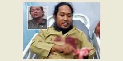 Lagi, Ustaz Bersimbah Darah Ditikam Saat Ceramah Maulid di Masjid
