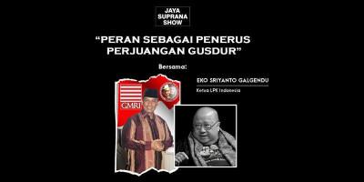 Eko Galgendu Komitmen Pegang Amanat Gus Dur dan Paku Buwono XII
