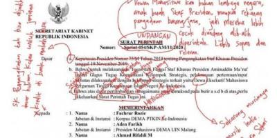 Kacau Berantakan, Surat Stafsus Aminuddin Ma'ruf Dikoreksi Publik