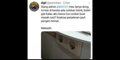 Viral Kicauan Pria Minta Izin Bawa Rice Cooker di Kereta, Ini Kata KAI dan Netizen