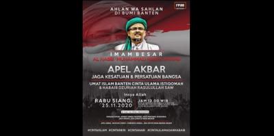 Klaim Dapat Izin Polisi, Apel Akbar Habib Rizieq Tetap Digelar di Serang