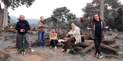 Gunung Padang Mulai Ramai Dikunjungi