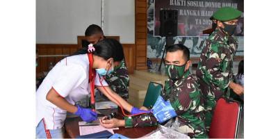 Sambut Hari Juang TNI AD, Korem 174 Gelar Donor Darah