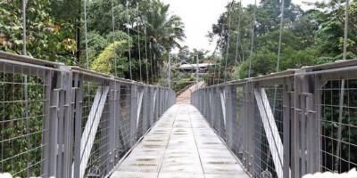 Jembatan Gantung Mekar Baru Permudah Akses Warga Serang