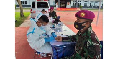 Antisipasi Covid-19, Seluruh Prajurit Petarung Buaya Muara Laksanakan Rapid Test