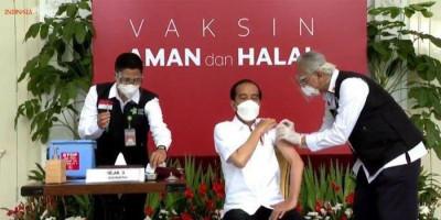 Jokowi Sudah Divaksin Corona: Tidak Terasa Sama Sekali