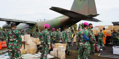 Marinir Tiba Di Banjarmasin Dalam Misi Penanggulangan Bencana Banjir