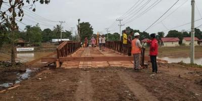 PUPR Selesaikan Pemasangan Jembatan Sementara di Jalur Lintas Selatan Kalsel