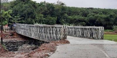 Jembatan Bailey di Purwakarta Selesai Dibangun