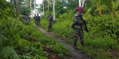 Satgas Pam Puter XXIV Laksanakan Patroli Di Pulau Brass