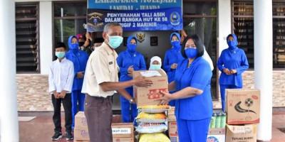 Ketua Jalasenastri Cabang 2 Korcab Pasmar 2 Kunjungi Yayasan Panti Asuhan