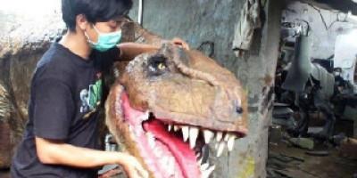 Animatronik Dinosaurus karya Pemuda Bantul