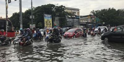 Sejumlah Wilayah Ibu Kota Terendam Banjir, Ketinggian Air Beragam