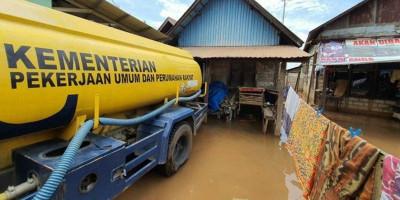 PUPR Lanjutkan Penanganan Darurat Banjir di Kalsel