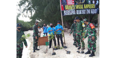 Danramil-04/KS Dampingi Kopassus Gelar Bhaksos di Daerah Latihan Kepulauan Seribu