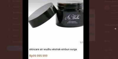 Harganya Selangit, Skincare Air Wudhu dari