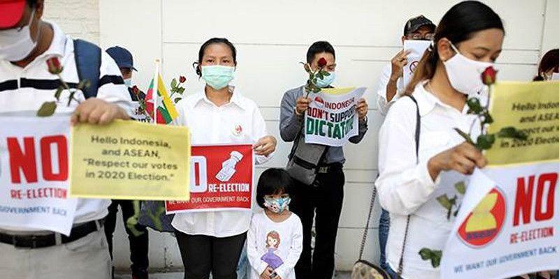 Pemberitaan yang Salah Bikin KBRI Yangon Jadi Sasaran Demo