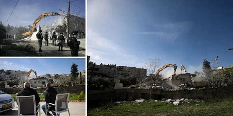 Rumah Kepala Penjaga Masjid Al-Aqsa Dibuldoser Israel