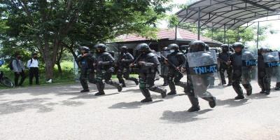 Prajurit Komodo Petarung Yonmarhanlan VII selesai mengikuti Latihan PHH Lantamal VII