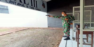 Uji Kelayakan Pemegang Senjata Api Yonmarhanlan III Jakarta