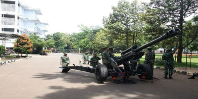 Jelang Hadapi Latpasrat 2021, Prajuri Yon Howitzer 1 Marinir Laksanakan Gun Drill