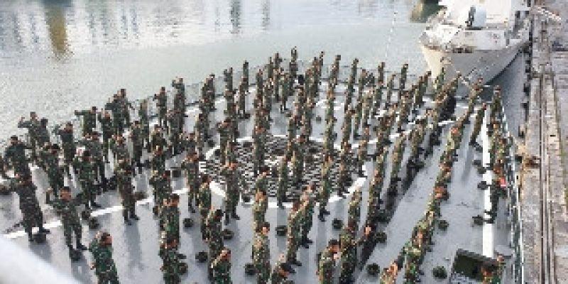 Ratusan Prajurit Marinir Tetap Bina Fisik Jelang Operasi Amfibi