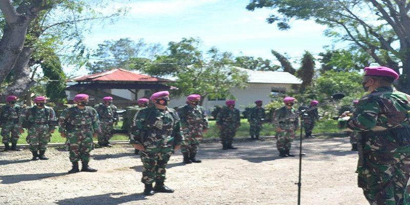 PRCPB dari Marinir TNI AL diberangkatkan ke Larantuka