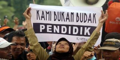Massa Honorer K2 Siap Gabung Demo Buruh 12 April