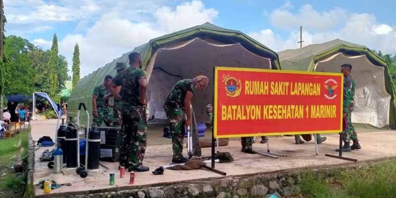 Marinir Dirikan Posko Kesehatan di Lembata