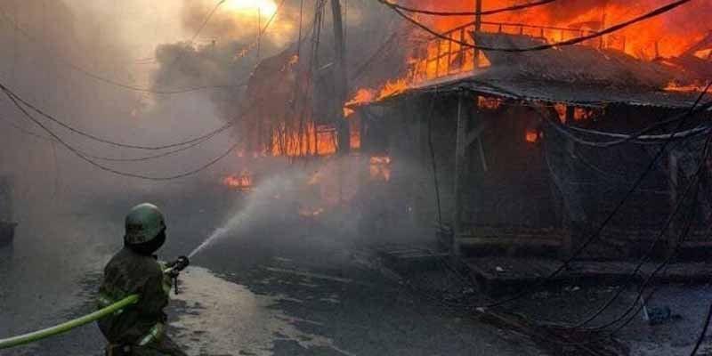 Pasar Kambing Tanah Abang Terbakar, Api Sudah Dapat Dilokalisir