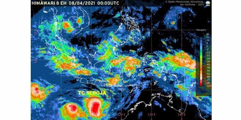 Siklon Tropis Seroja Meningkat, Empat Provinsi Diminta Waspada