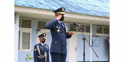 Upacara Peringatan HUT ke-75 TNI Angkatan Udara di Lanud Silas Papare